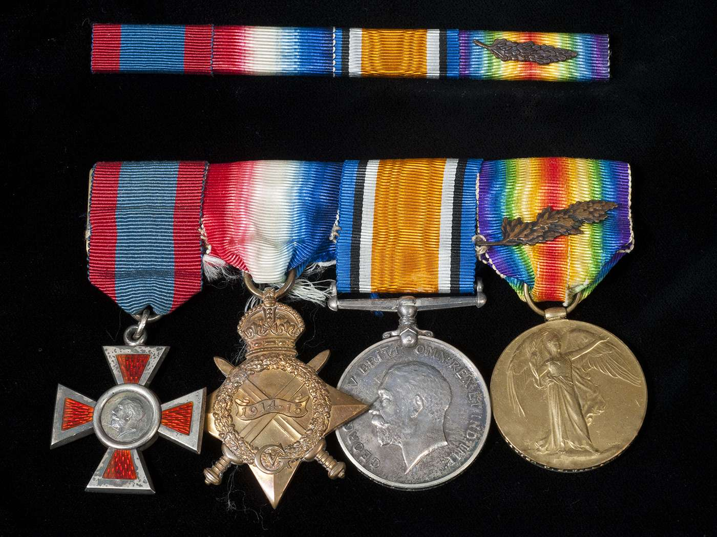 Four medals awarded to Miss Fannie Williams for her service in World War One