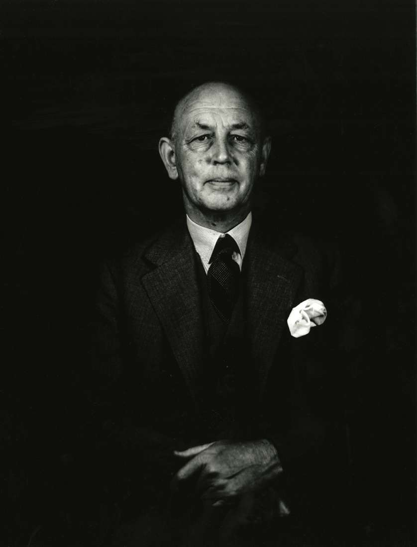Black and white photograph of director Charles Kellaway