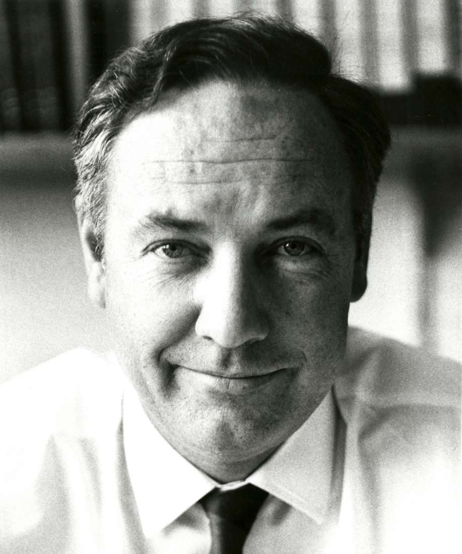 Black and white portrait of Professor Don Metcalf